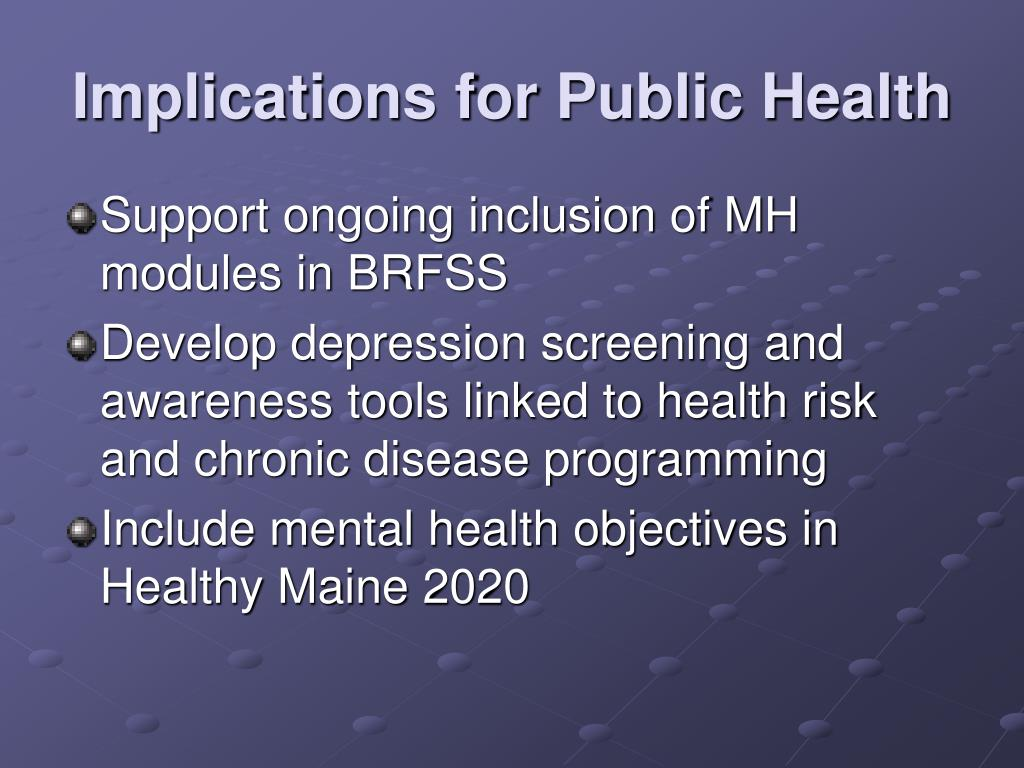 Implications for Public Health