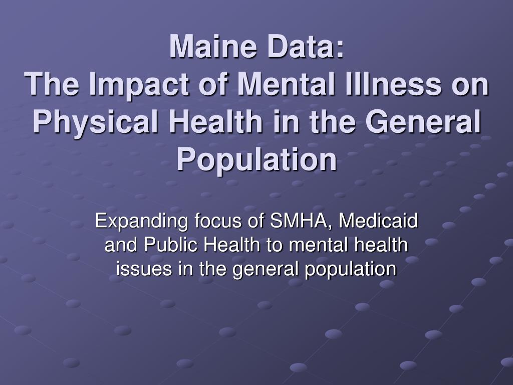 Maine Data: