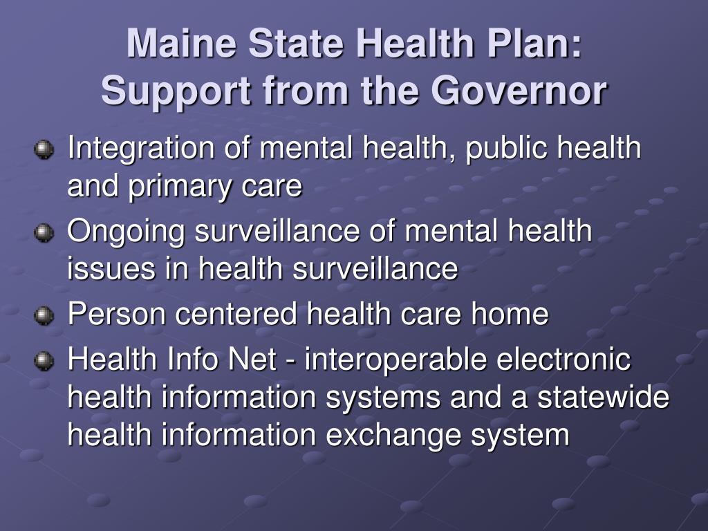 Maine State Health Plan: