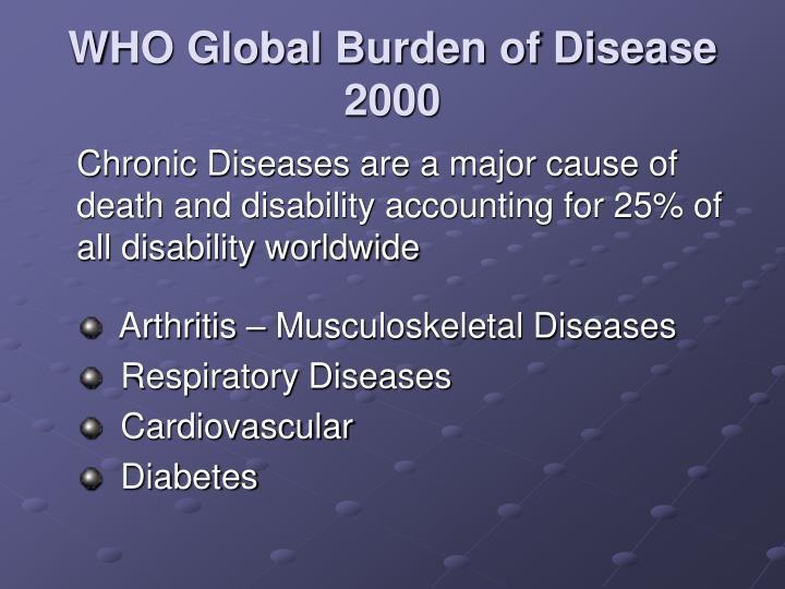 Who global burden of disease 2000
