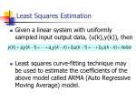 least squares estimation