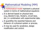 mathematical modeling mm