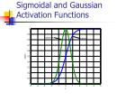 sigmoidal and gaussian activation functions