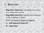 3 behaviors