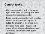 control tasks