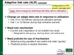 adaptive link rate alr continued