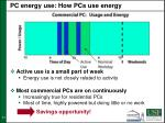 pc energy use how pcs use energy