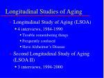 longitudinal studies of aging