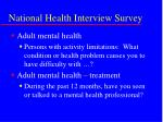 national health interview survey20