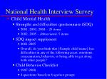 national health interview survey23