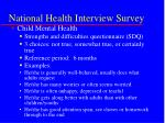 national health interview survey24