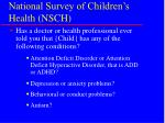 national survey of children s health nsch30