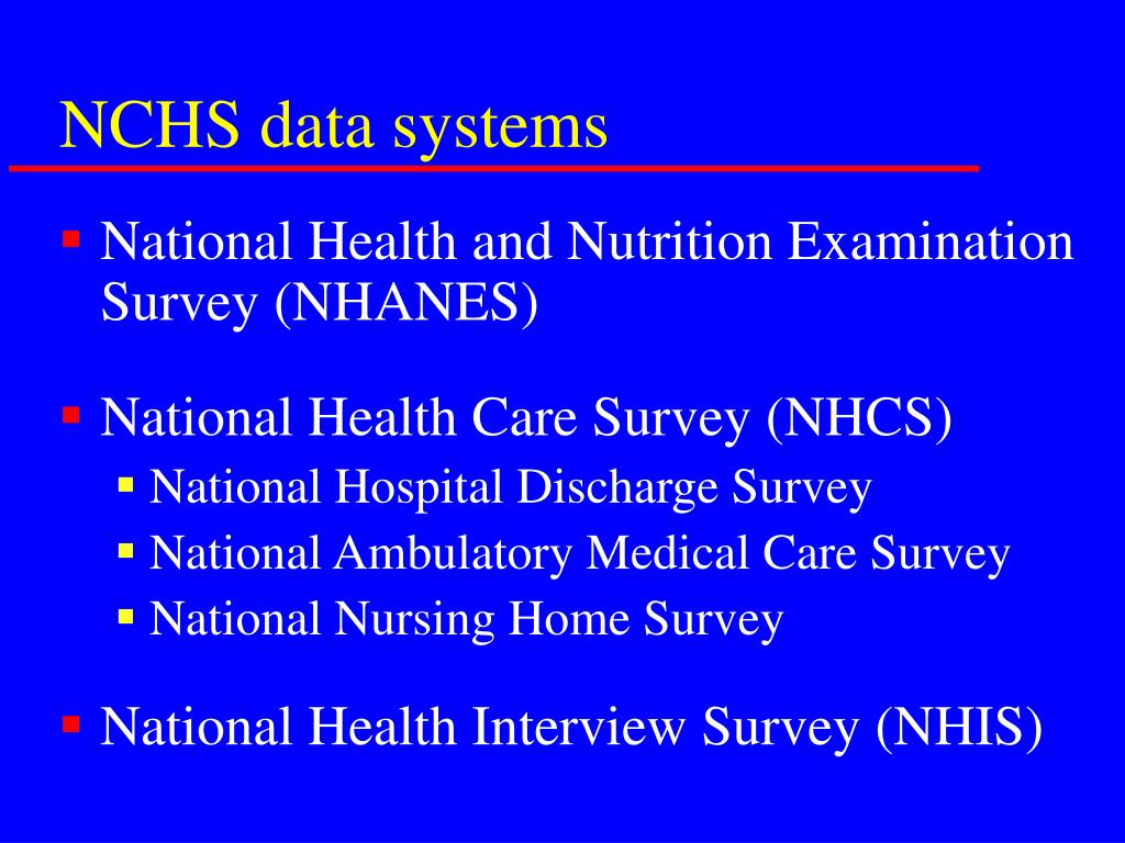 NCHS data systems