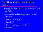 the k6 measure of psychological distress