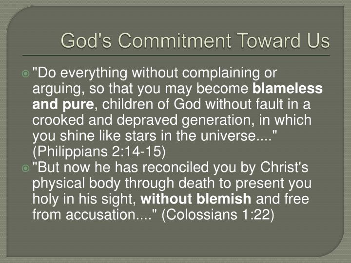God's Commitment Toward Us