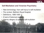 self mutilation and victorian psychiatry