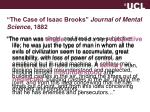 the case of isaac brooks journal of mental science 1882
