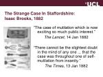 the strange case in staffordshire isaac brooks 1882