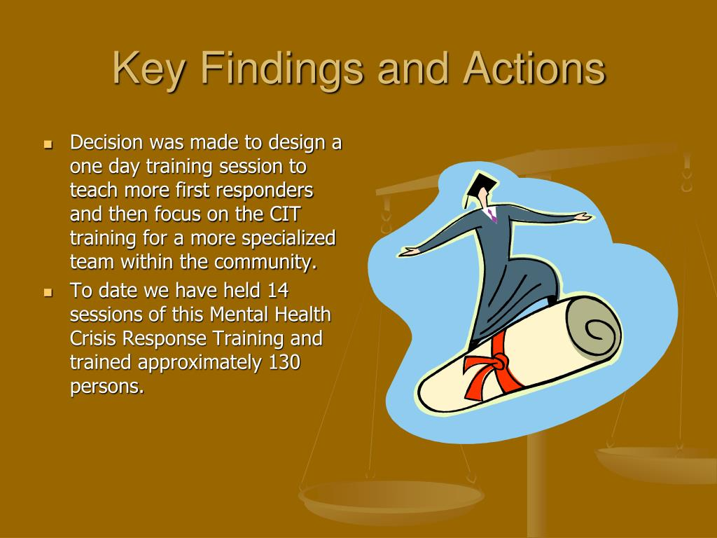 Key Findings and Actions
