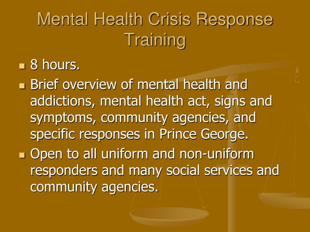 Mental Health Crisis Response Training