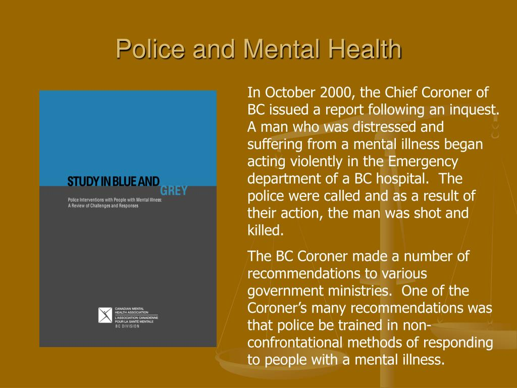 Police and Mental Health