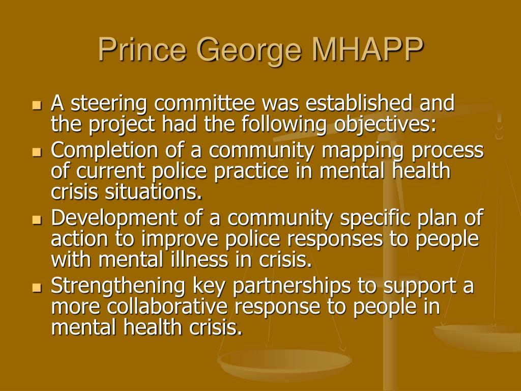 Prince George MHAPP