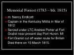 memorial forrest 1783 bfr 18151