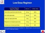 low dose regimen