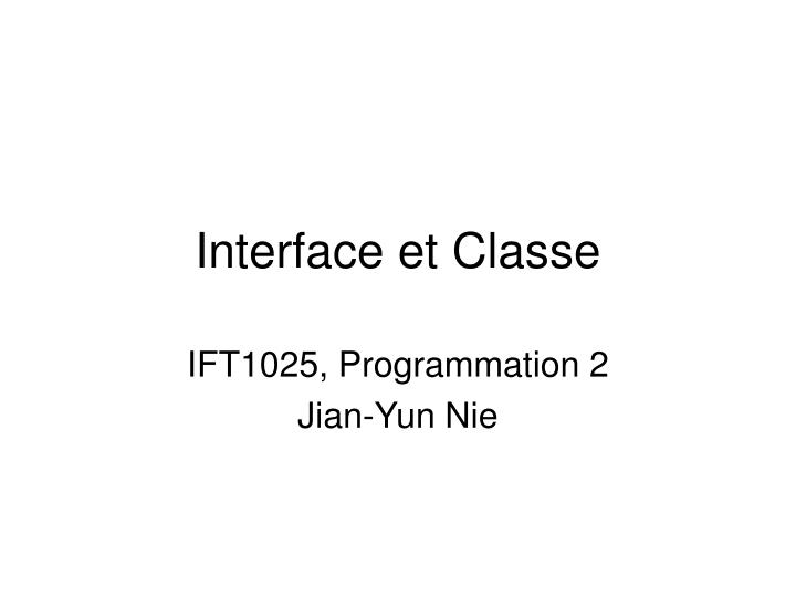 interface et classe n.