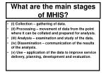 what are the main stages of mhis