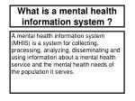 what is a mental health information system