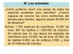 iii los animales