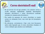correo electr nico e mail