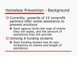 homeless prevention background