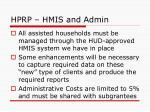 hprp hmis and admin
