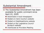 substantial amendment1