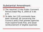 substantial amendment2