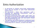 entry authorization