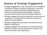 essence of strategic engagement