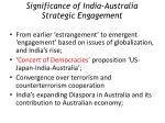 significance of india australia strategic engagement