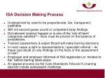 isa decision making process