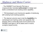 highway and motor carrier1