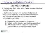 highway and motor carrier4