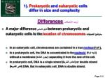 1 prokaryotic and eukaryotic cells differ in size and complexity1