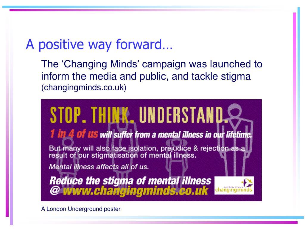 A positive way forward…