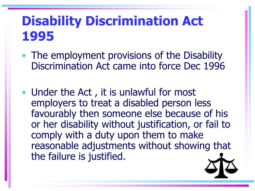 Disability Discrimination Act 1995