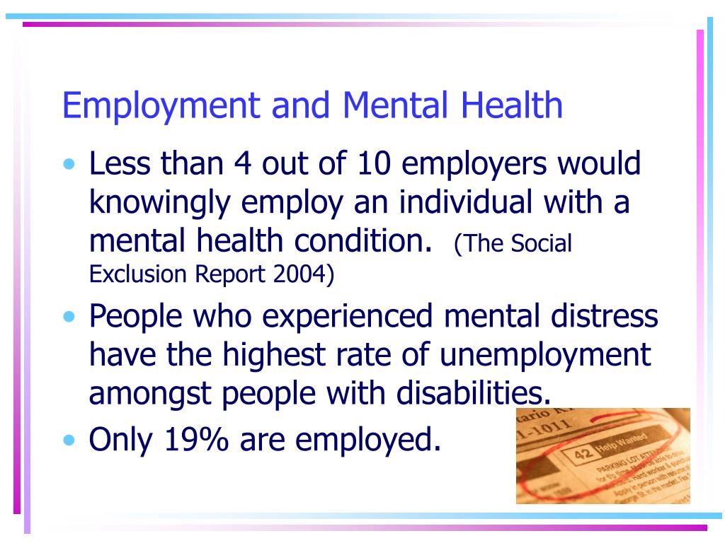 Employment and Mental Health