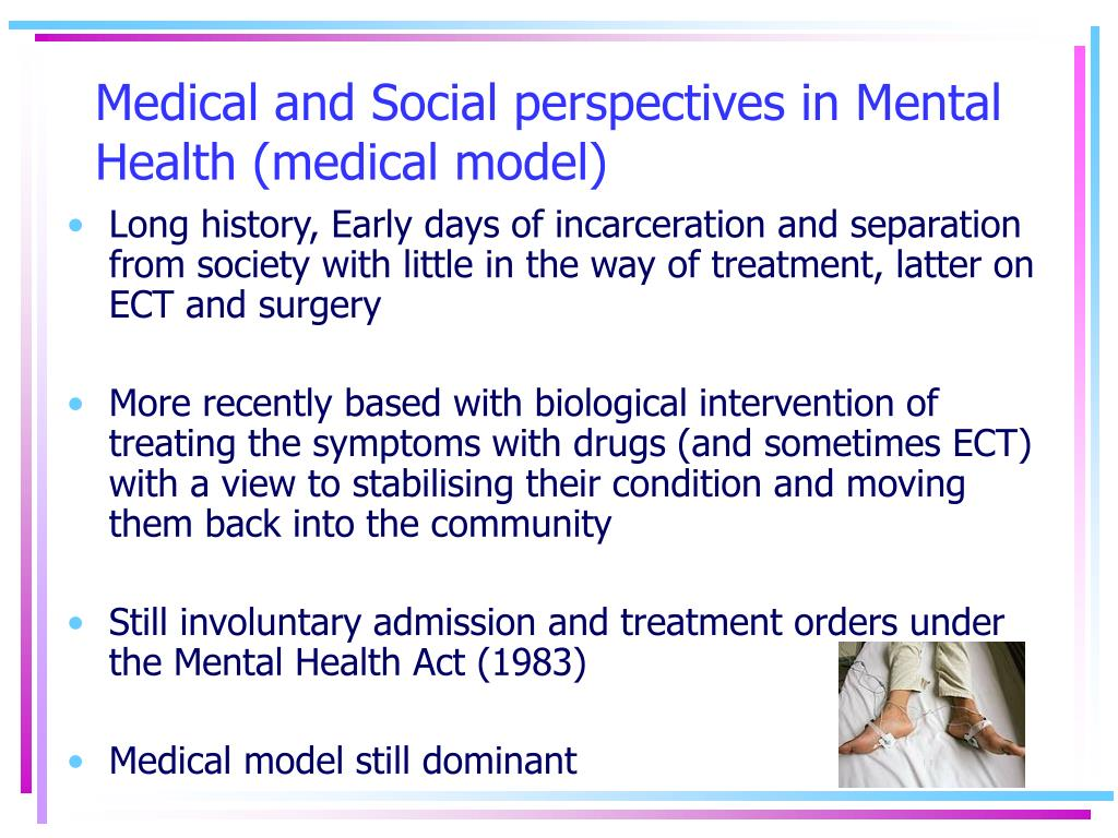 Medical and Social perspectives in Mental Health (medical model)