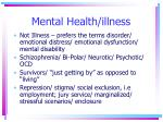 mental health illness