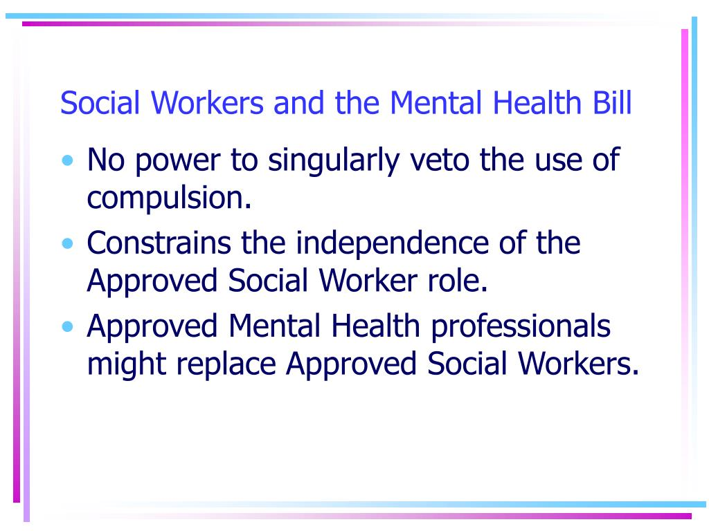 Social Workers and the Mental Health Bill